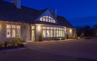 twilight shot of Helms Port clubhouse in Wilmington NC