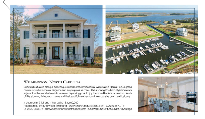 Homes & Estates print for 5825 Harbor Breeze Drive in Wilmington, NC